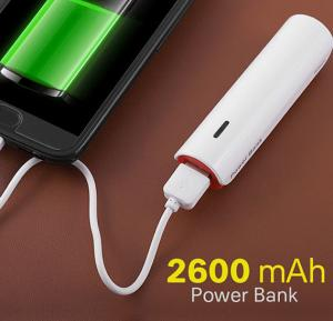 Universal Multi Color Portable 2600 Mah Power Bank For Smartphones and Tablets