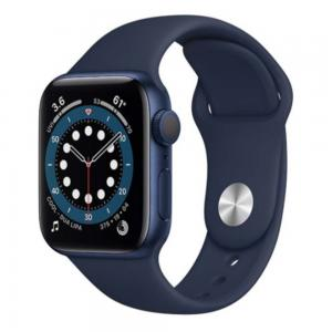 Apple Watch Series 6-44 mm (GPS + Cellular) Blue Aluminium Case with Deep Navy Sport Band