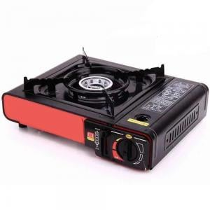 Outdoor Portable BBQ Gas Stove Camping Kitchen Utensil, Black