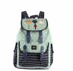 Okko sports printed backpack green-GH835-OK36406