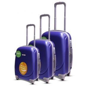 Traveller Abs 4 Wheel Trolley Set 20 Inch+24 Inch+28 Inch - Violet