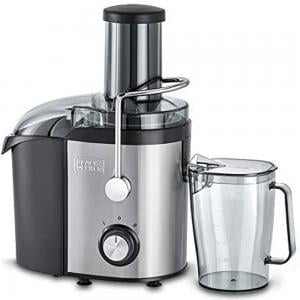 Black and Decker 800W  JE800-B5 1.7 Liter Stainless Steel Juice Extractor , Silver And Black