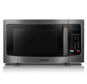 Toshiba ML-EC42S(BS) Microwave 42 Liter Convection Microwave 10 Auto Cook Menu 11 Power Level Membrane Control Microwave Power 1000W Grill Power 1100W Black Stainless Steel