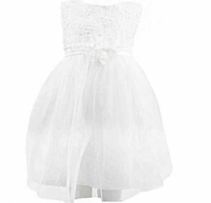 Amigo 7 Children Summer Shawl Princess Dress White -6-9M - 806