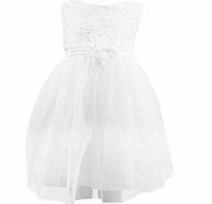Amigo 7 Children Summer Shawl Princess Dress White -6-9M - 806