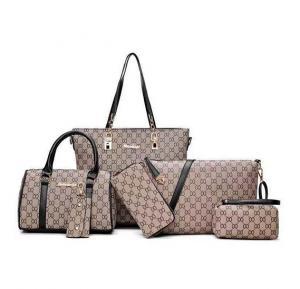 6 pc womens new design bags light brown