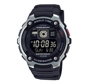 Casio Black Resin Band Watch For Men- AE-2000W-1BVDF