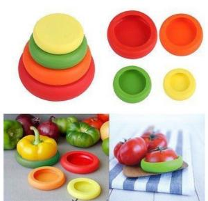 4Pc Set Silicone Fruit Vegetable Food Fresh Cover