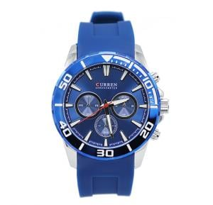 Curren Rubber Band Mens Watch Blue - M 8185