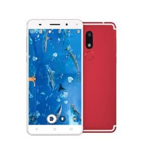 W&O W7 4G Smartphone, Android 7, 5.5 Inch Display, Dual Sim, Dual Camera, 4GB RAM, 64GB Storage, Octa CoreProcessor - Red
