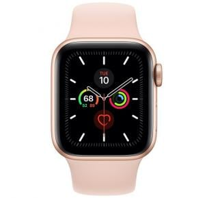 Apple Watch Series 5, 40MM  Aluminium Case With Pink Sand Sport Band -Gold