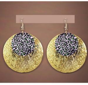 2 In 1 Leopard Earrings