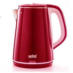 Sanford Stainless Steel Electric Kettle 2.2Litre Red Color, SF3363EK