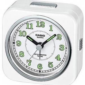 Casio TQ-158S-7DF Analog Table Clock, White