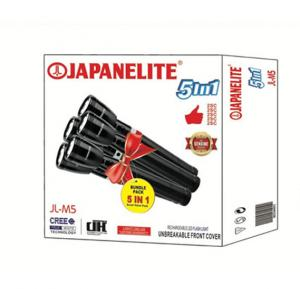 Japanelite 5 in 1 Rechargeable LED Flashlight JL-M5