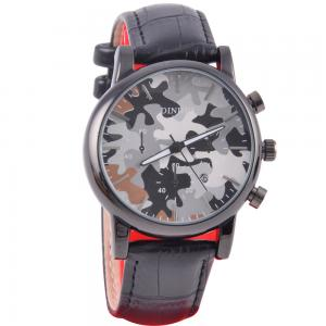 Mens Leather Watch SCD719-B043-35/D035-35