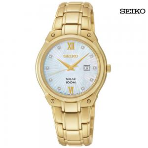 Seiko Ladies Analog Stainless Steel Watch, SUT216P1
