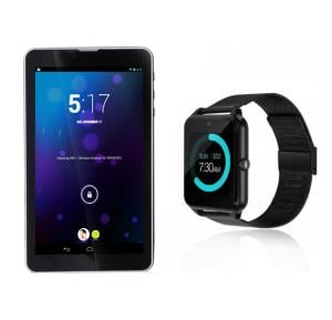 2 in 1 Bundle BSNL A34 16Gb Tablet With Z007 Bluetooth Stainless Steel Smart Watch
