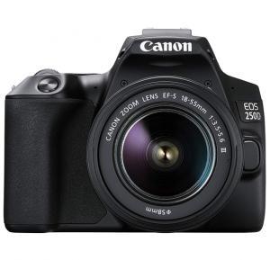 Canon EOS 250D EFS 18 55MM DC III Black KIT DSLR Camera 24.1MP APS C Sensor