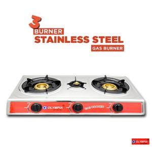 Olympia  3 Burner Stainless Steel Gas Burner, OE-054