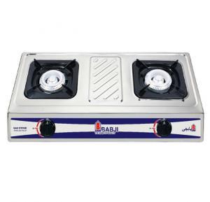 Babji Stainless Steel Boady Gas Stove 2 Burner, BBJ-GB-201