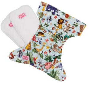 QQ Baby One Size Reusable Pocket Diaper With 2 Nappy, Qq-063