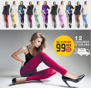 HUA 12 Color Free Size Leggings for Women