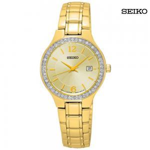 Seiko Ladies Stainless Steel Case Bracelet, SUR782P1