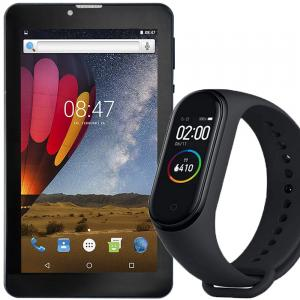 2 in 1 combo offer Heatz Z9910 4G Tablet and M4 Smart Bracelet