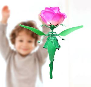 Flying Flower Toy with Music and Lights
