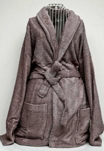 Rest Cotton Bathrobe Unisex Taupe Color, 9032154