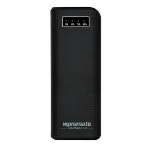 Promate Power Bank High Capacity 13200mAh Power Bank With Dual USB Port Reliefmate-13 Black