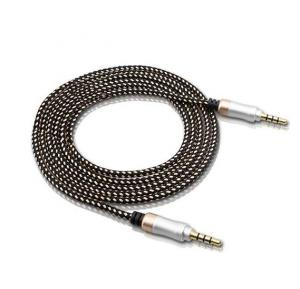 Universality High Hard Quality 3.5 Standard AUX 1.5 M Audio Cable For Car, Laptop & Mobile