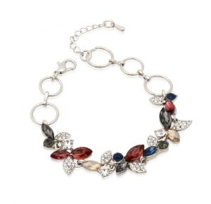 Kavani Multi-color Butterfly Chimes Crystal Rhodium Bracelet