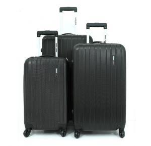 Para John PJTR3018B ABS Trolley Bag Set of 3 Pieces - Black