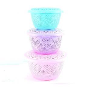 Epsilon 3 Pieces Fruit Basket With Cover - EN3662