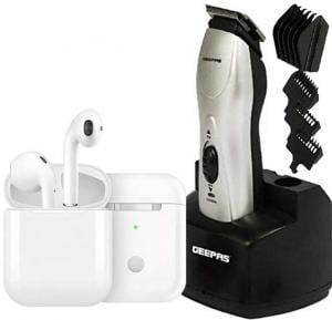 2 in1 Mens combo, Geepas Rechargeable Trimmer and I12 TWS Bluetooth Earphone