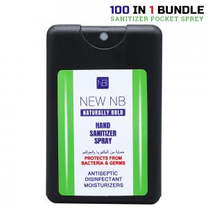 New NB 100 Piece Hand Sanitizer Pocket Spray 20 ML