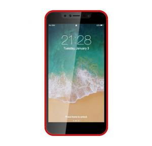 Discover D8 Plus 4G Smartphone, Android 6.0, 5.5 Inch HD Display, Dual SIM, Dual Camera, 3GB RAM, 32GB Storage - Red