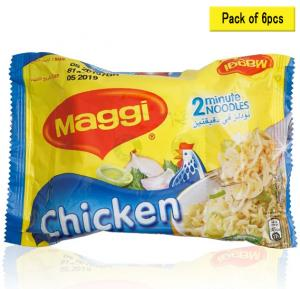 Maggi 2mn.Noodles Chicken 77gm, 17988 pack of 6