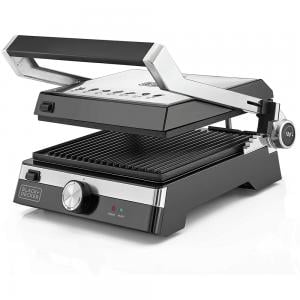 Black and Decker CG2000-B5 2000W Family Health Grill, Black And Silver