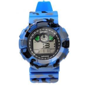 Digital Analogue Sport watch WR30M Blue,Alg001