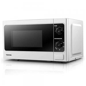 Toshiba Microwave Oven MM-MM20P(WH) 20 Litre 700 Watt Solo Microwave Oven with Function Defrost, White