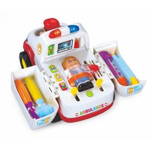 Hola 2-in-1 Ambulance Doctor Vehicle Set  Toy,836,1-3 Years,multi