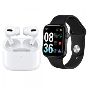2 in 1 Combo offer P20 Smart watch IP68 Waterproof Swimming Bracelet And i500 AirPods Pro Earbuds White