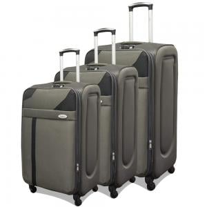 Traveller 4 Wheel Soft Luggage 3 pcs Set, TR-1028