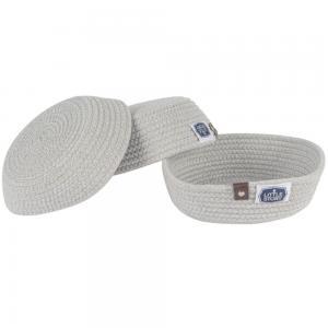 Little StoryLS_RPBA_S3GY Multipurpose Rope Baskets Set of 3, Grey