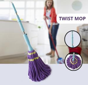 Clean Microfiber Ratchet Twist Mop, CL-2219