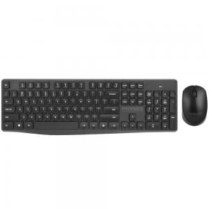 Promate Wireless Keyboard and Mouse Combo, Ergonomic Super-Slim 2.4GHz Keyboard and Mouse Set with Nano USB Receiver, ProCombo-5 Arab/Eng