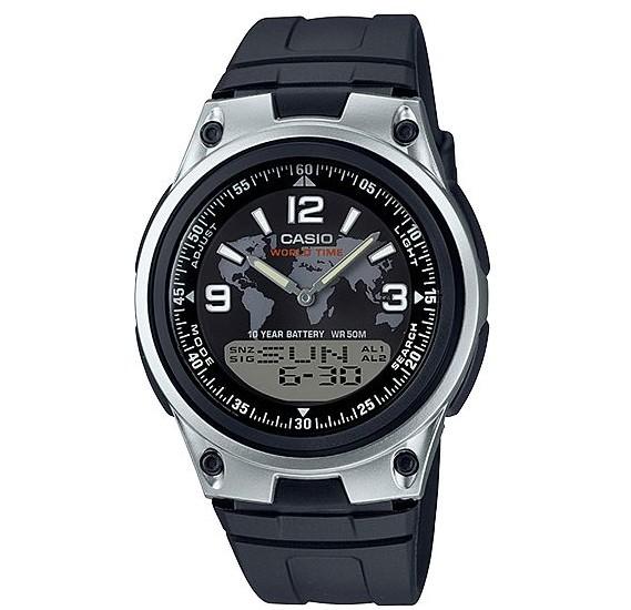 Casio Dual Time Analog/Digital Watch AW-80-1A2VDF